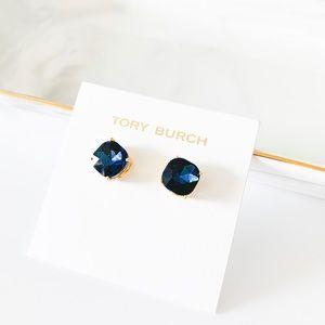 Tory Burch Tory Set Stud Earrings Blue